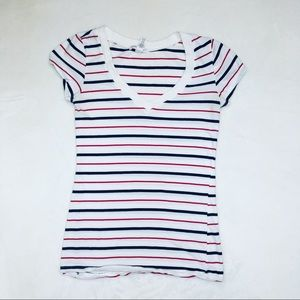 Nautical stripes cotton tee